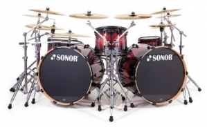 Барабанная установка 17220325 Sonor SEF 11 Stage 2 Set WM 13076  Red Sparkle Burs Select Force