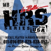 Струны для электрогитары La Bella HRS-MB Hard Rockin Steel (USA) 11-52
