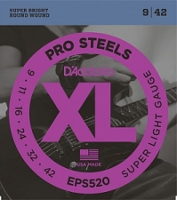 Струны для электрогитары D`Addario EPS520 XL ProSteels (USA) 9-42