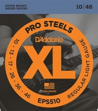 Струны для электрогитары D`Addario EPS510 XL ProSteels (USA) 10-46